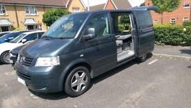 VW T5 Caravelle Multivan 174BHP RED TDi Camper 7 seats Folding Bed &Table IMMACULATE - PRIVATE PLATE