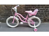 Little princess bike with stabilizers
