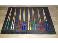 Decorative Multicoloured Chopsticks (Eight Pairs)