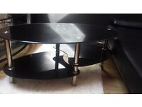 Tempered Glass Coffee Table and TV Table