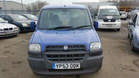 2003 (53 reg) Fiat Doblo 1.9 D SX 5dr VAN WHEELCHAIR RAMP FOR £795 SOLD WITH 12 MONTHS MOT