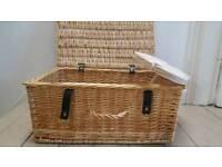 Large wicker picnic basket