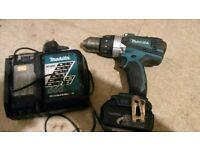 Makita cordless hammer drill driver model DHP458