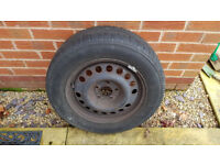 VAUXHALL ZAFIRA MK1 98-05 TRAYAL 195/65 R15 SPARE TYRE AND RIM