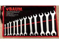Open end spanner set cold stamped 12pc