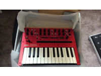 KORG Monologue Analogue Synth Synthesizer (red) boxed with PSU
