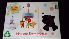 Mothercare - ELC blossom farm cot mobile Brand New