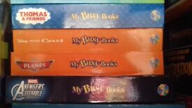 4 busy book sets. Each has 12 minifigures