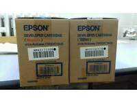 Epson printer Aculaser cartridges, office work computer laptop colour black laser