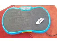 Exercise vibration plate new with box blue collection only £50 .