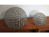 Crystal effect Sphere ball light shades