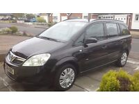 58 PLATE VAUXHALL ZAFIRA 1.6 PETROL BLACK 7 SEATS ONLY 2 KEEPERS FROM NEW