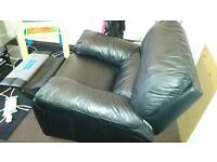 Leather recliner armchair (Excellent condition)