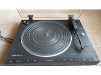 Denon DP-21F Turntable Record Player (black)