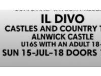 Il Divo concert tickets - Alnwick Castle - 15th July 2018