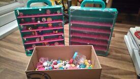 Shopkins, job lot 1. x2 display cases and many season 7&8 Shopkins!