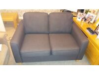 SMALL TWO SEATER SOFA FOR SALE - DARK BROWN