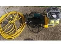 Makita 110v ads drill,lead and transformer
