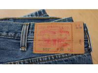 Levis jeans 501, 38/36 new!