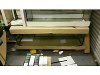 Fish tank 150x50x50cm bow front 375 liters, brand new