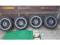 "17"" 5x100 oz racing alloy wheels"
