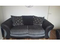 dfs grey and black sofa