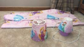 Girls Disney Princess bedroom accessories