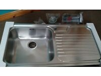 LARGE NEW Franke Galassia GAX611 Stainless Steel Kitchen Sink BIG BOWL Right Hand Drainer