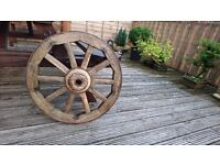 Wagon wheel Original Vintage Antique Genuine old wooden cart wheel Gargen ornament