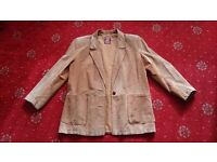 GAVIN BROWN real suede tan jacket - size 12 (COLLECTION ONLY)
