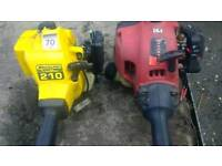 2 petrol strimmers