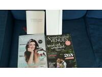 Bride-to-be starter pack (vow book, planning journal, magazines) wedding