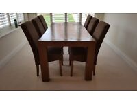 Real Wood Dining Table + Six Chairs