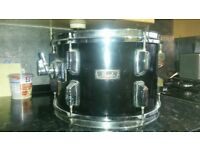 12 inch pearl wood/fibreglass tom tom (black) used but in working order.