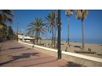 Winter vacation in Spain: lovely flat next to beach front in Costa del Sol (Malaga airport)
