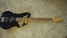 Yamaha RBX170 4-string Bass Guitar in black with tuner and bag