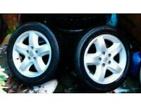 Vauxhall omega cd alloy wheels great condition needs 2 tyres