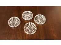 New set of 4 clear caster cups for pianos or furniture - Can post