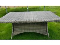 All weather garden table Dobbies