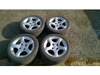 """Peugeot 306 gti6 cyclone alloy wheels and tyres 15"""" gti 6"""
