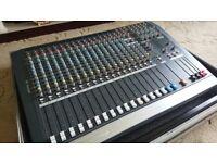 Allen & Heath PA20 Mixing Desk in excellent condition c/w Road Ready custom flight case