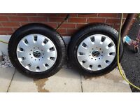 "4 VW TRANSPORTER T5 16"" STEEL WHEELS AND TYRES"