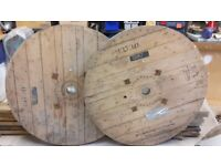 Wooden cable reel, ideal table or garden/interior/shop feature