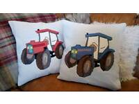 Vintage Tractor cushion pillow ford massey John deer