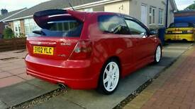 HONDA CIVIC TYPE R MILANO RED FSH 12 MONTHS M.O.T IMACULATE PX WELCOME