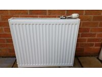 Central heating radiator with valves
