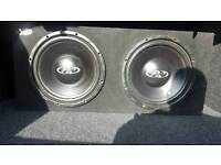 """2x12"""" Subwoofers and amp"""