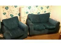 teal sofa