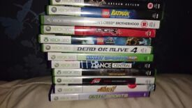 xbox360 +12 games,kinetic,steering,Net card,1 controller.