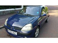 RENAULT CLIO IN VERY GOOD CONDITION. 1YEAR MOT.
